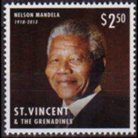 ST.VINCENT 2013 - Scott# 3897a Nelson Mandela $2.5 MNH - St.Vincent (1979-...)