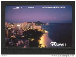 Hawaii GTE - 1993 3 Unit - Waikiki At Night - HAW-45 - Mint - Hawaii