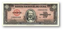 CUBA - 10 Pesos - 1960 - P 78.b - Serie C - Carlos Manuel De Cespedes - Banco Nacional De Cuba - Cuba