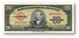 CUBA - 20 Pesos - 1949 - P 80.a - Serie D - Antonio Maceo - Banco Nacional De Cuba - Cuba