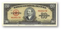 CUBA - 20 Pesos - 1958 - P 80.b - Serie H - Antonio Maceo - Banco Nacional De Cuba - Cuba
