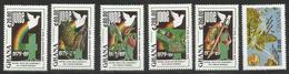 1990 Ghana Revolution Anniversary Fruit Mining Cacao Chocolate  Complete Set Of 5 MNH - Ghana (1957-...)
