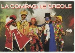 LA COMPAGNIE CREOLE - AUTOGRAPHES ET SIGNATURES DES ARTISTES  MARS 1985 - Singers & Musicians