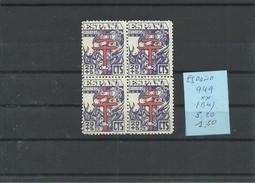 ESPAÑA EDIFIL 949  ( BLOQUE DE 4 SELLOS)   MNH  ** - 1931-50 Nuevos & Fijasellos