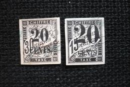 2  Timbre Taxe  Colonies Surchargés 20c (utilisation Fiscale ? )