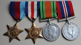 4 Médailles Medal Group WWII Star France And Germany Defence Medal War Medal 1939 1945 World WAR II - United Kingdom