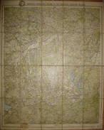 Amtliche Karte Des Gaues 11 Des Deutschen Radfahrer-Bundes - Württemberg Bayern - Mittelbach Verlag Leipzig - 65cm X 73c - Landkarten
