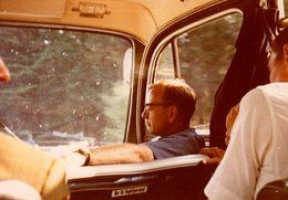Photo Couleur Originale Vintage 60's Intérieur D'Autocar - Autobus, Bus, Banquette Et Sans Ceinture - Cars