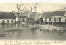 Ramp Der Overstroomingen Van 12 Maart 1906 Vernielde Huizen Moerzeke     (4091) - Hamme
