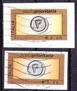 2006 POSTA PRIORITARIA 0,60 Con E Senza Datario USATO - 2001-10: Oblitérés