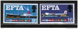 EUROPEAN IDEAS 1967 EFTA GB MI 444-45 GREAT BRITAIN - Idee Europee