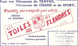 Buvard Les Toiles Des Flandres - Tobacco