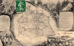 Carte Géographique  Illustrée Du Département Du Puy De Dôme - 1912 - RARE -   BE + - Autres Communes
