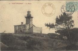 ILES CHAUSEY (50) - Le Phare - Cachet Hotel Des Iles - Phot. J. Puel - Alderney