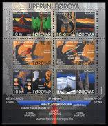 2009 Féroé Faroe Foroyar - Block 6v.,Geological Formation, Origines Géologiques Des Iles Michel 665/670 MNH