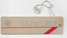 étiquette Bagage  CONCORDE  BRITISH AIRWAYS - Étiquettes à Bagages