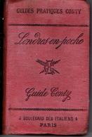 GUIDE CONTY  De 1888 - LONDRES En Poche  Et Ses Environs - 410 Pages + 72 Pages De Publicité - Illustration Par UZES - 1801-1900