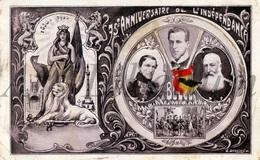 Postcard / ROYALTY / Belgium / Belgique / Roi Albert I / Koning Leopold I / Leopold II / Met Draaischijf / RARE - Cartes Postales