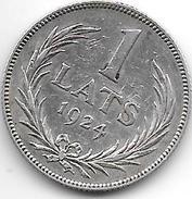 *latvia 1 Lats 1924   Km 7  Vf - Lettonie