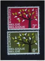 België Belgique Belgium 1962  Europa Yv COB 1222-1223 MNH ** - Belgien