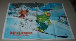 Supplément Spirou Du N° 2079 Poster Recto Verso; Tif Et Tondu Et La Bentley 4,5 Blower - Spirou Magazine