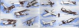 CARTOLINA DOPPIA  - RIMINI - 23° GRUPPO - NUOVA NV - Flugzeuge