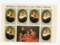 Sao Tome-1983-Rembandt-Portraits-mi 818+823***MNH Feuillet Avec Vignette Centrale