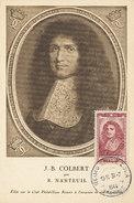 D28337 CARTE MAXIMUM CARD 1944 FRANCE - POLITICIAN J.B. COLBERT CP ORIGINAL - Sonstige