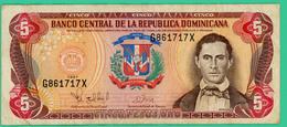 5 Pesos - Republique Dominicaine - N° 6861717X - 1997 - TB+ - - Dominicaine
