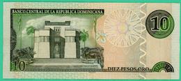 10 Pesos - Republique Dominicaine - N° ER445798 - 2002 - TTB+ - - Dominicaine