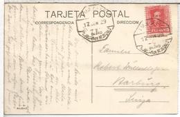 TP ALGORTA VIZCAYA A SUIZA CON MAT AMBULANTE BILBO SAN JULIAN DE MUSQUES 1929 - Cartas
