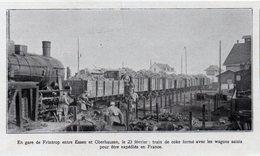 1923  --  ALLEMAGNE  --   EN GARE DE FRINTROP ENTRE ESSEN ET OBERHAUSEN  TRAIN DE COKE VERS LA FRANCE  C.710 - Collezioni