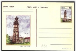 Turchia/Turquie/Turkey: Intero, Stationery, Entier, Torre Dell'orologio, Tour De L'horloge, Clock Tower - Orologeria