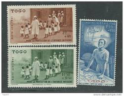 Togo PA N° 6 / 8  XX  :  P.E.I.Q.I. La Série Des 3 Valeurs  Sans Charnière, TB