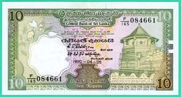10 Rupees - Sri Lanka - N° F/165 084661 - 1990 - Sup - - Sri Lanka