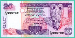 20 Rupees - Sri Lanka - N° L/29 998702 - 1992 - Neuf - - Sri Lanka