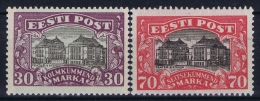 Estland Estonia Estonie: Mi 55 - 56 MNH/**/postfrisch/neuf Sans Charniere 1924 Irregular Gum As Usual - Estonie