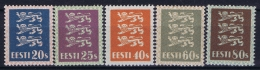 Estland Estonia Estonie: Mi 82 - 86 MNH/**/postfrisch/neuf Sans Charniere 1928 High Values - Estonie