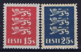 Estland Estonia Estonie: Mi 106 - 107 MNH/**/postfrisch/neuf Sans Charniere 1935 - Estland
