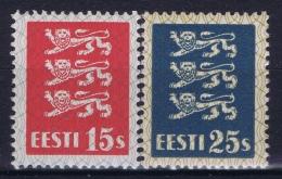 Estland Estonia Estonie: Mi 106 - 107 MNH/**/postfrisch/neuf Sans Charniere 1935 - Estonie