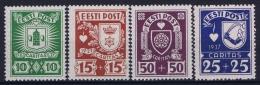 Estland Estonia Estonie: Mi 127 - 130 MNH/**/postfrisch/neuf Sans Charniere 1937 - Estland
