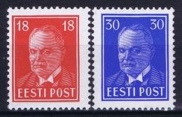 Estland Estonia Estonie: Mi 146 - 147 MNH/**/postfrisch/neuf Sans Charniere 1939 - Estonie