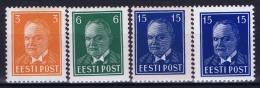 Estland Estonia Estonie: Mi 156 - 158 W + X  MNH/**/postfrisch/neuf Sans Charniere 1940 - Estland