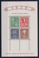 Estland Estonia Estonie: Mi Block Nr 3   MNH/**/postfrisch/neuf Sans Charniere  1939 - Estonie
