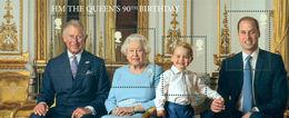 GROSSBRITANNIEN GRANDE BRETAGNE GB 2016  The Queen's 90th Birthday MS CUTOUT VERSION MNH SG MS3832-35 - Ganze Bögen & Platten