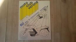 VERONA-MOTO CLUB-60 ANNI DI MOTOCICLISMO VERONESE-1926-1986-TARGA - Sport