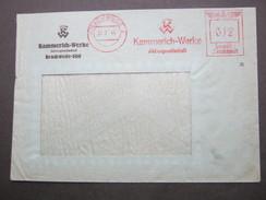 Firmen Freistempel , Meterstempel Auf Beleg Aus Brackwede  1944 , Rückklappe Fehlt - Allemagne