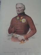 Lord RAGLAN (fitzroy Sommerset) Commandant En Chef De L'armée Anglaise En Orient.planche  39,5 X 29,8 Cm.19e Siècle. - Estampes & Gravures