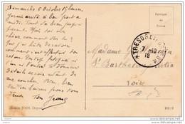 1918 - Trésor Et Postes - CP De Djibouti ? Vers Saint Barthélémy, Loire - Vue Boutre, Dhow Bateau Traditionnel Somali ? - Côte Française Des Somalis (1894-1967)