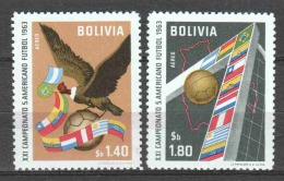 Bolivia 1963 Mi 694-695 MNH SOCCER FUSSBAL - Bolivië
